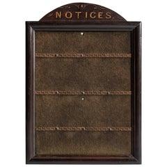 Notice Board, circa 1900