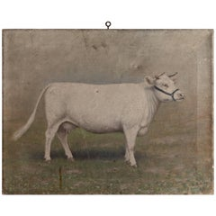 Oil Painting of a Bull, 1913
