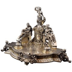 Silver Writing Materials, France, 19th Century