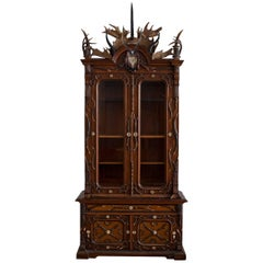 German Fantasy Historic Revival Hunting Trophy Cabinet, Circa 1870