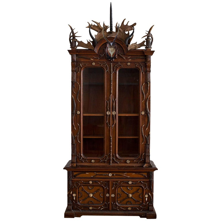 German hunting-trophy cabinet, ca. 1870