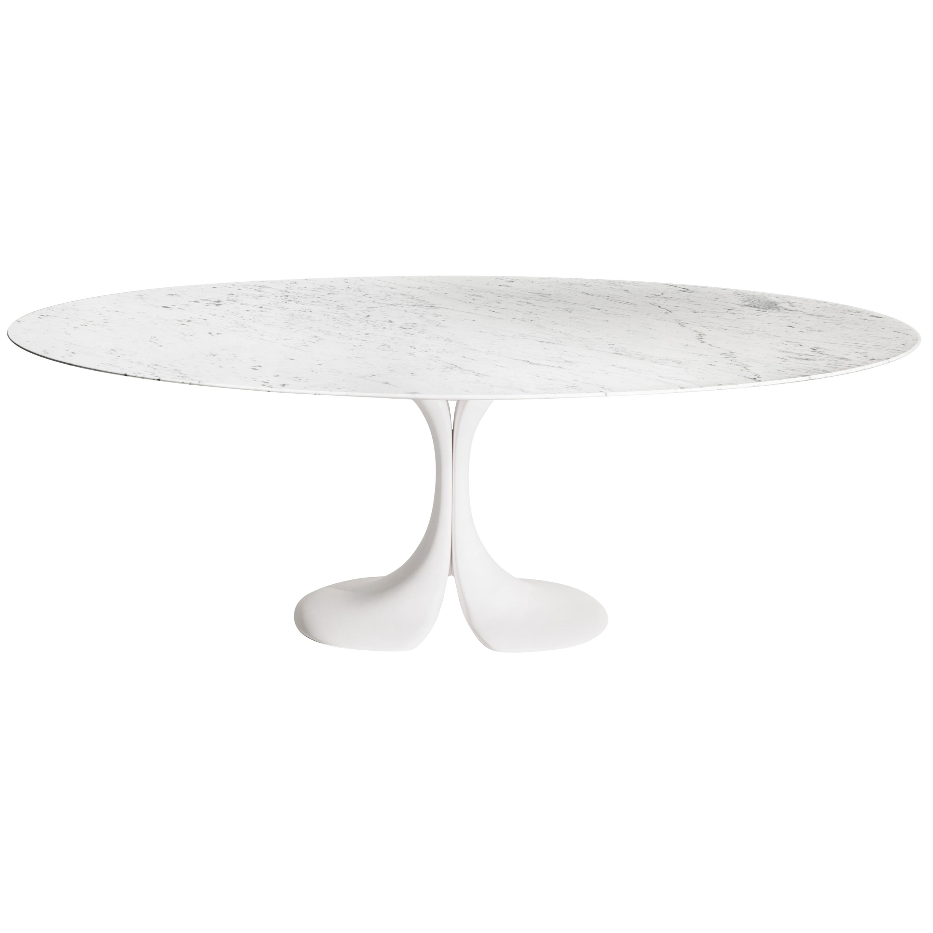 Didymos Oval Table with White Marble Top by Antonia Astori for Driade