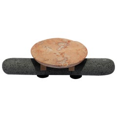 Bodina - Chica Rosa Centerpiece in Limestone and Volcanic Stone, Grey Coral