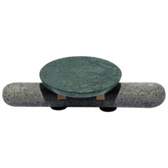 Bodina - Chica Verde Centerpiece in Limestone and Volcanic Stone, Grey Green