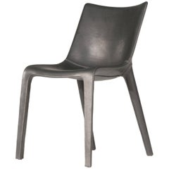 Lou Eat Chair in Black Leather by Philippe Starck & D. Sugasawa for Driade