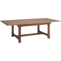 Gothic Oak Refectory Table, circa 1900