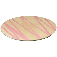 Sin Fin, Crema Rosa Serve Ware Platter in Limestone and Resin, Pink and Cream