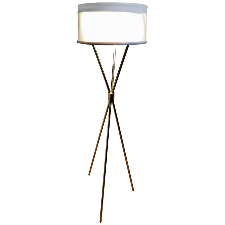 Tripod Floor Lamp by T.H. Robsjohn-Gibbings for Hansen Lighting