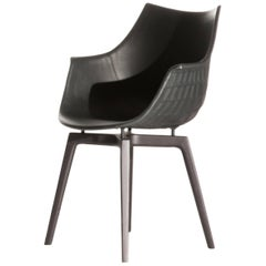 Meridiana Chair in Black Leather by Christophe Pillet for Driade