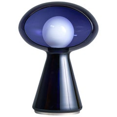 Violet Murano Blown Glass Lamp by Vistosi, 1970s