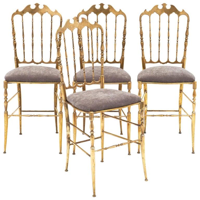 Four Vintage Chiavari Chairs For Sale