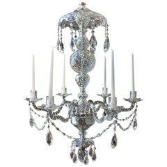 19th Century Irish Georgian Crystal Chandelier
