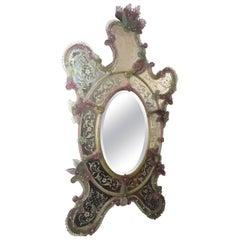Amazing 19th Century Venetian Mirror, Murano, 1870