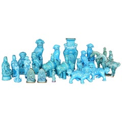 Collection of Chinese Turquoise Figurines