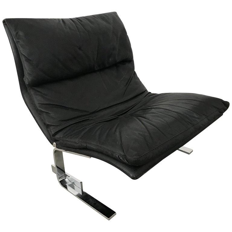 "Giovanni Offredi ""Onda"" Postmodern Wave Lounge Chair for Saporiti"