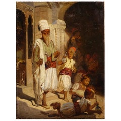 Street Scene in a Souk in Istanbul or Cairo, 19th Century, French School