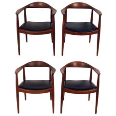 "Set of Four ""The Chairs"" by Hans Wegner for Johannes Hansen"