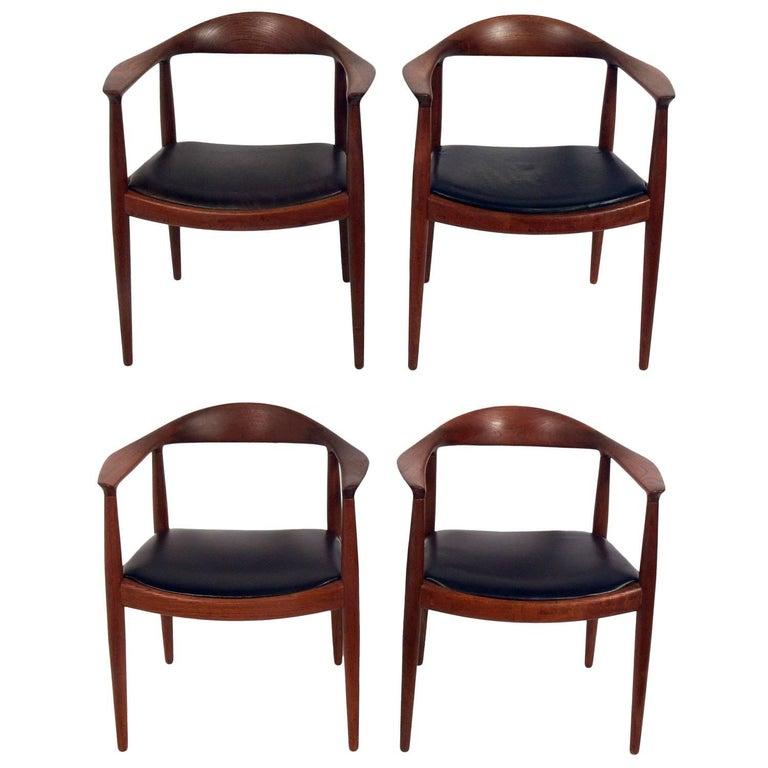 "Set of Four ""The Chairs"" by Hans Wegner for Johannes Hansen"
