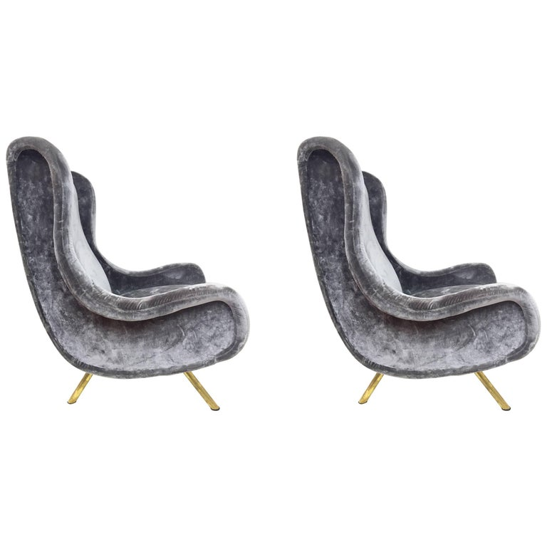 Pair of Armchairs by Marco Zanuso