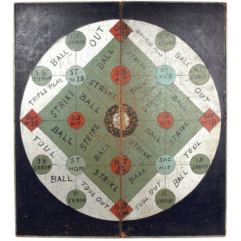 Large-Scale American Folk Art Carnival Game Board, Very Graphic