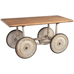 Edwardian Industrial Coffee Table, circa 1910