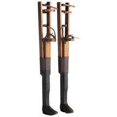 Wooden Stiltwalker Legs, circa 1940