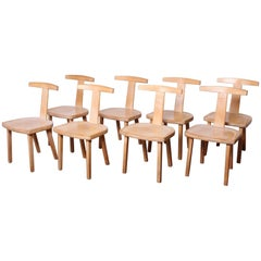 Set of Eight Chairs by Olavi Hanninen for Mikko Nupponen