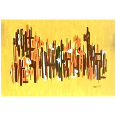20th Century Original Oil on Canvas Abstract Painting by Maggie