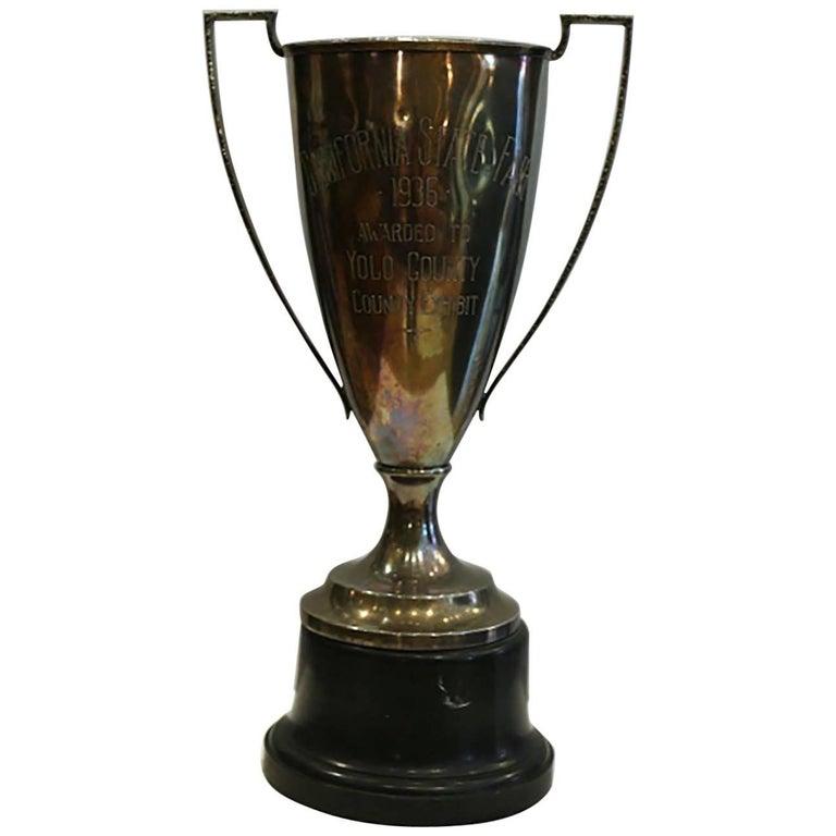"Early 20th Century Monumental 20"" California State Fair Trophy, circa 1936"
