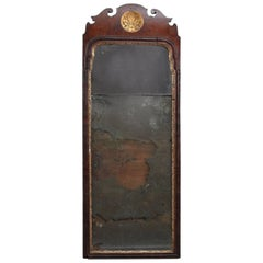 18th Century English Queen Anne Carved Mahogany and Gilt Wall Mirror, circa 1730