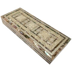 Middle Eastern Abalone and Mother-of-Pearl Inlay Large Rectangular Box