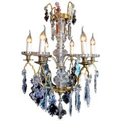 French Louis XIV Style Gilt-Bronze and Crystal Chandelier by Baccarat circa 1850