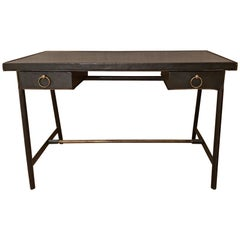 Vintage Jacques Adnet Leather Desk