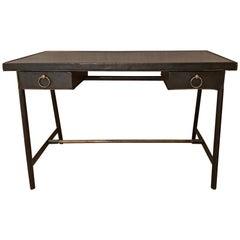 Vintage Jacques Adnet Leather Desk