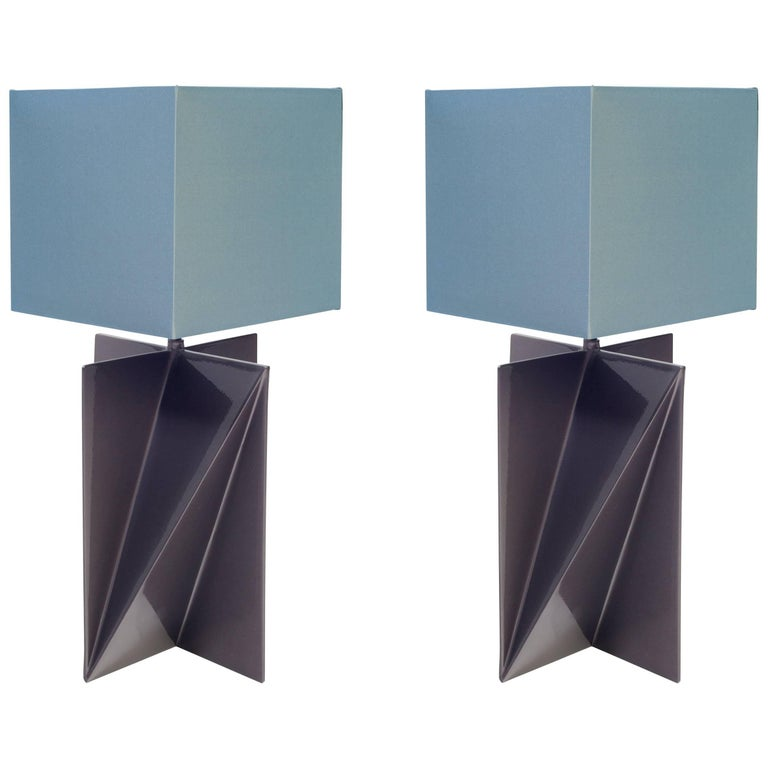 Pair of Dart Table Lamps by Harry Clark