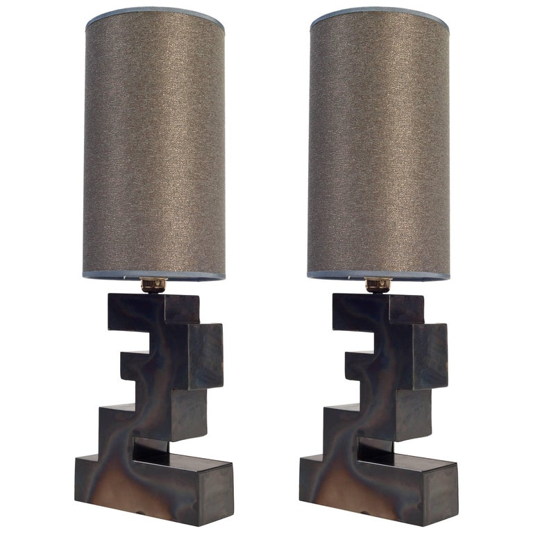 Pair of Stacks Table Lamp by Harry Clark