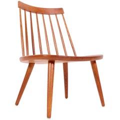 """Midcentury Yngve Ekström """"Sibbo"""" Oak Chair"""