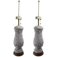 Pair of Ceramic Lamps by Thurston