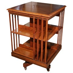 Superb 19th Century Mahogany Revolving Bookcase