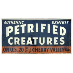 Petrified Creatures Museum, Roadside Sign
