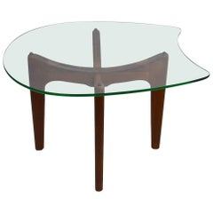 Glass Top End Table by Pearsall