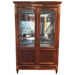 Large 19th-Early 20th Century Antique French Empire Style Armiore Vitrine
