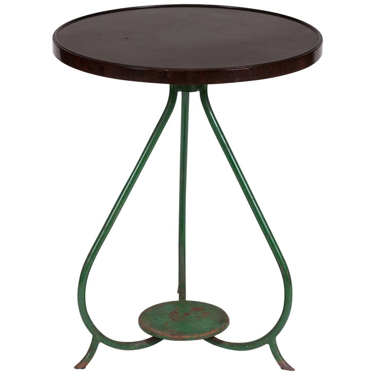 French Bistro Table with Bakelite Top