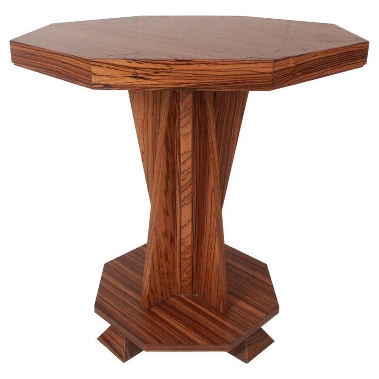 Beautiful Contemporary Modern Custom-Made Octagonal End Table