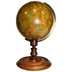 Early Victorian C. F. Crutchley's New Celestial Table Top Globe, circa 1860