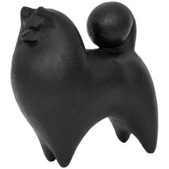 Bronze Miniature Akido Dog Sculpture from Japan