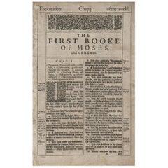 In the Beginning, Genesis 1, 1611 King James Bible
