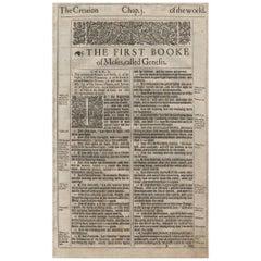 in the Beginning, Genesis 1, 1613 King James Bible