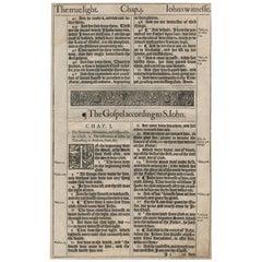 In the Beginning, John 1, 1611 King James Bible