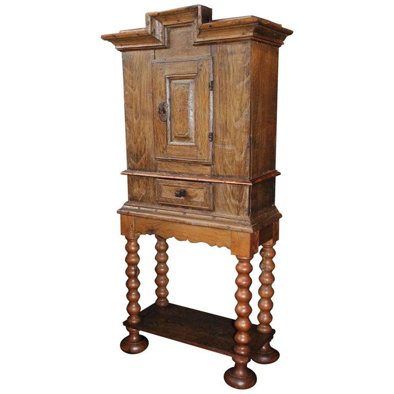 Antique Gustavian Folk Art Cabinet, circa 1800